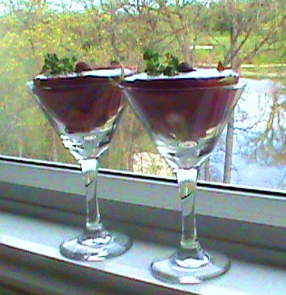 dandy raspberry dragon martini - green smoothie recipe