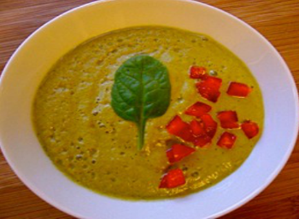 Raw Recipe: Lusciously Rich Cream of Spinach Soup
